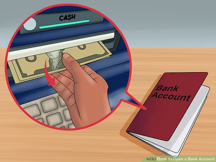 Withdraw money from your account when needed.