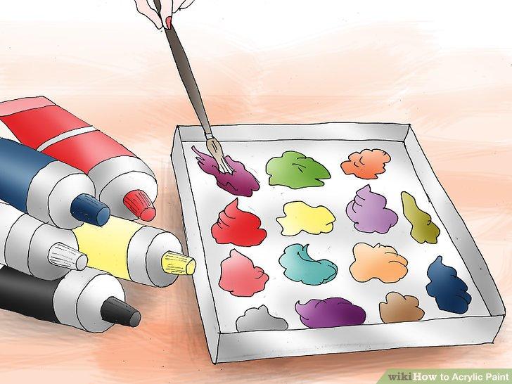 Mischen Sie Ihre Farben.