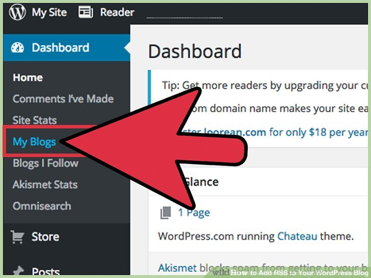 Go to your blog to view your new WordPress RSS feed.