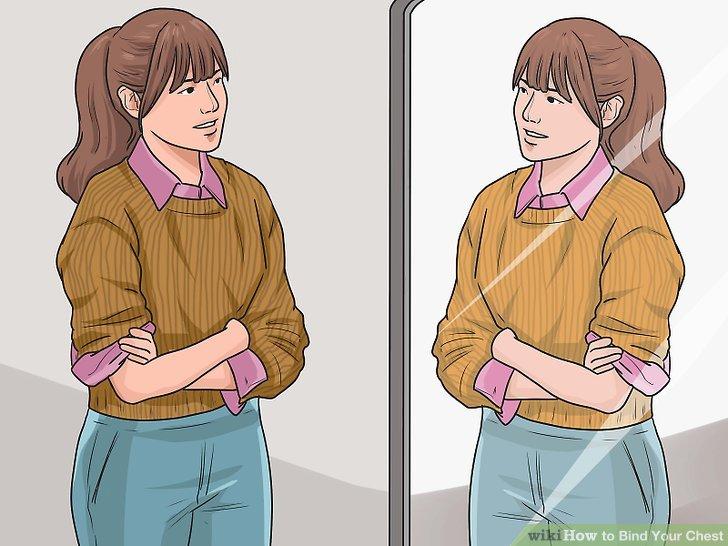 Tragen Sie Kleidung, die die Aufmerksamkeit von Ihrer Brust ablenkt oder flacher wirkt.