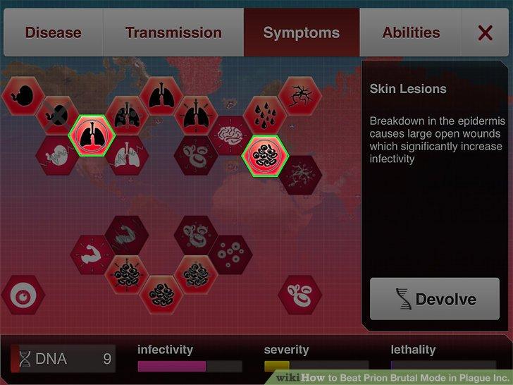 Entwickeln Sie einige ernstere Symptome, um die Infektion zu verbreiten.