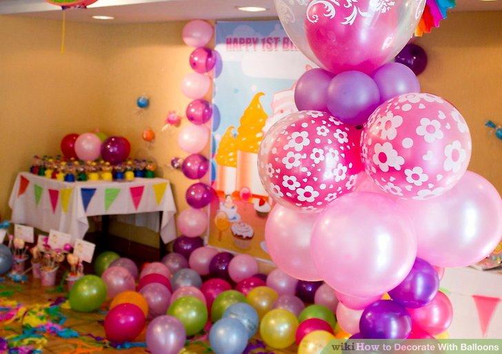 Birthday Decoration Ideas Home Balloons