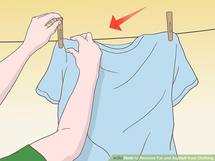 Kleidungsstücke an der Luft trocknen lassen.