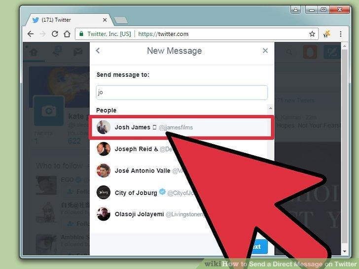 Klicken Sie auf den Namen Ihres Twitter-Freundes.