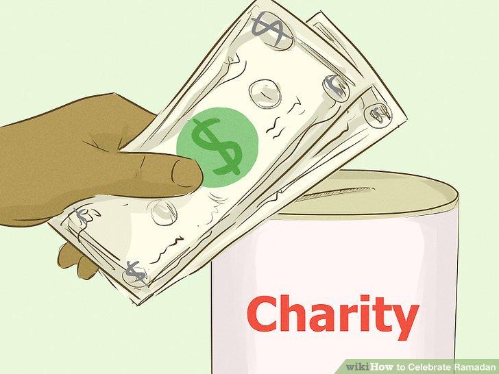 Für wohltätige Zwecke spenden.