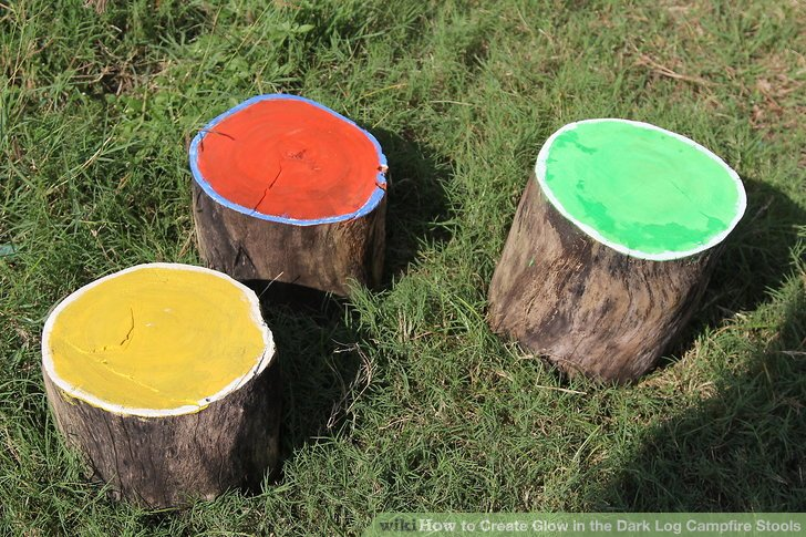 tree stump chairs ikea chair mat how to create glow in the dark log campfire stools 9 steps image titled step 7