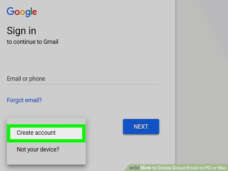 Create an iCloud account on an iPhone or iPad.