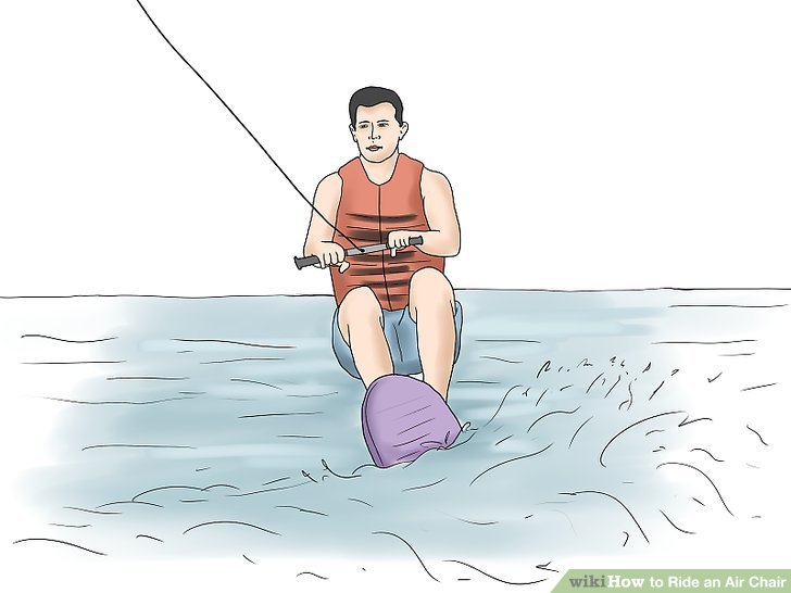hydro chair water ski recliner lift for sale how to ride an air with pictures wikihow image titled step 13