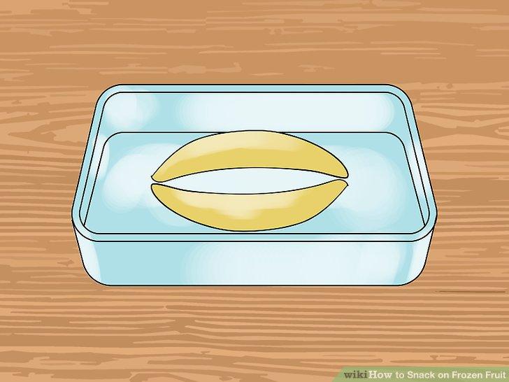 Gefrorene Bananen herstellen.