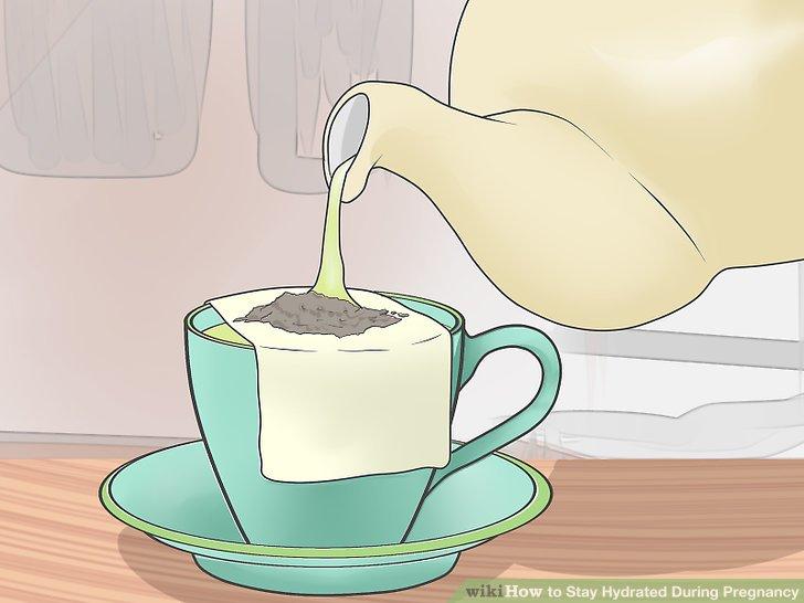 Probieren Sie Saft, Milch oder Kräutertee.