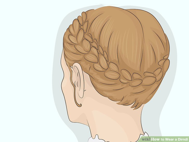 Braid your hair for a traditional look.