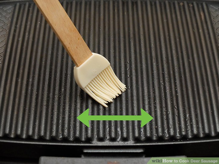 Brush your sausages or grill gates with olive oil.