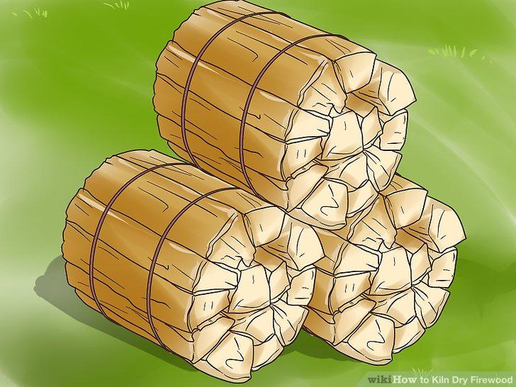 Bündeln Sie das Brennholz zusammen.