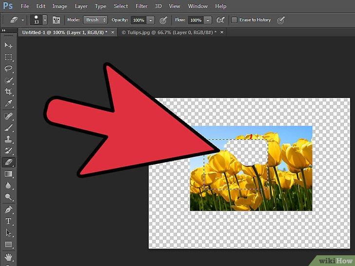 Transparantie toevoegen in Photoshop  wikiHow