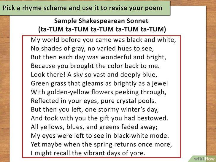 Cómo Escribir Un Poema Con Rima 12 Pasos Con Fotos