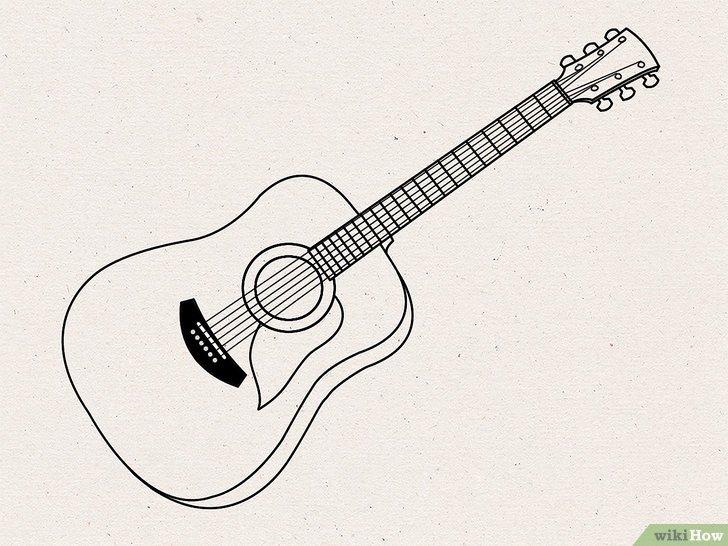 Como Desenhar um Violão: 15 Passos (com Imagens)