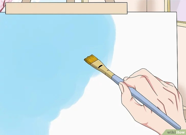 Cara Melukis Awan Dengan Cat Air