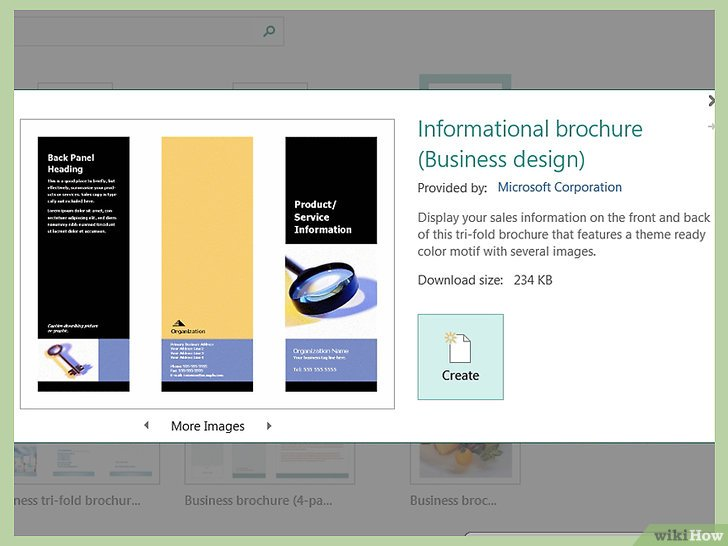 Come Creare Delle Brochure Con Microsoft Publisher