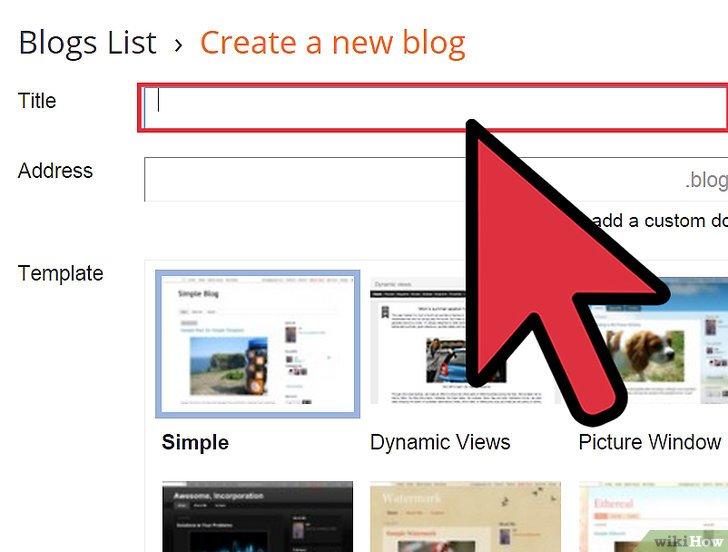 صورة عنوانها Start a Blog Step 9