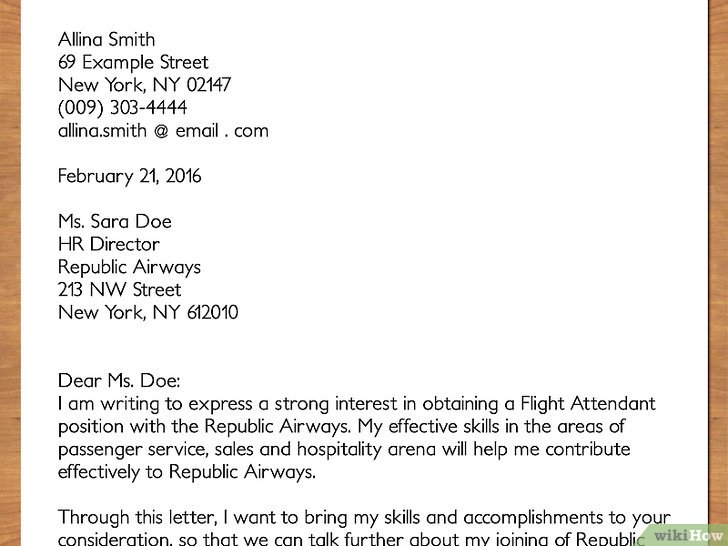 Comment Rédiger Un CV De Personnel De Cabine WikiHow