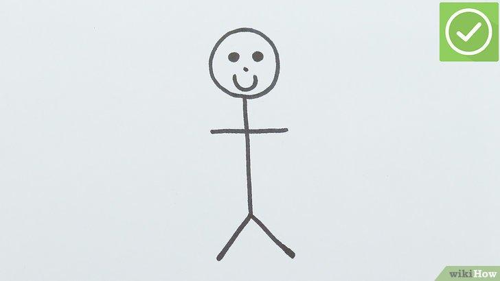Cómo dibujar un muñeco de palitos: 7 pasos (con fotos)