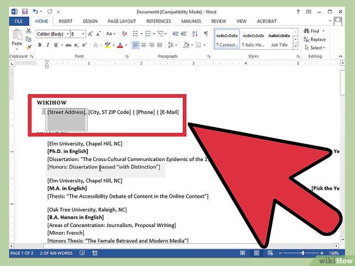 4 Manières De Créer Un Curriculum Vitae Sur Microsoft Word