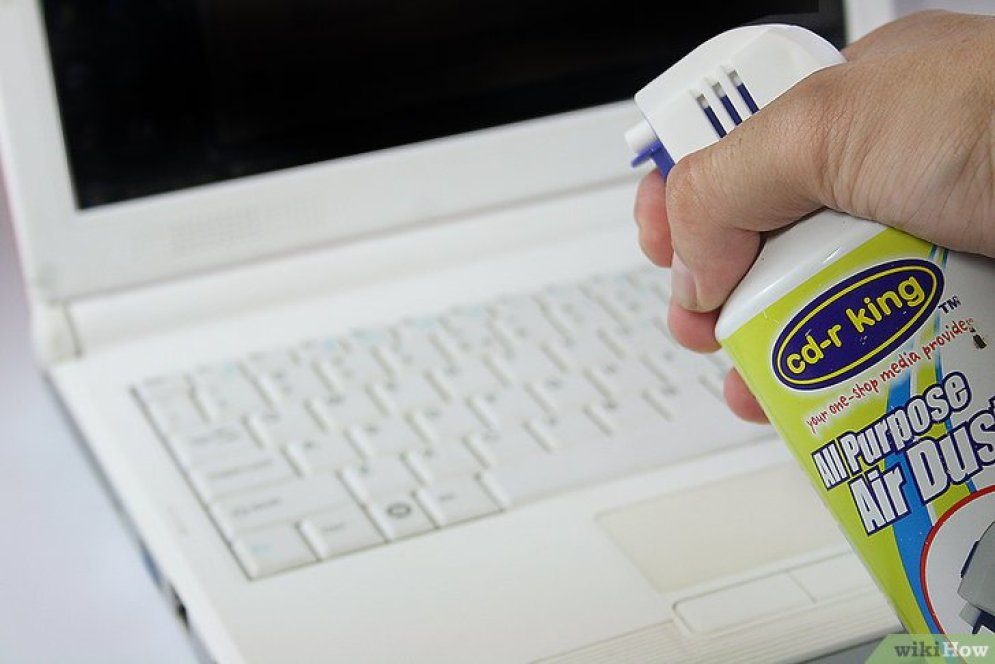 Resultado de imagen para limpiar laptop con aire comprimido