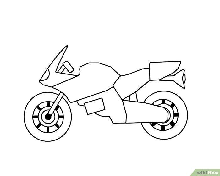 Come Disegnare una Motocicletta: 13 Passaggi