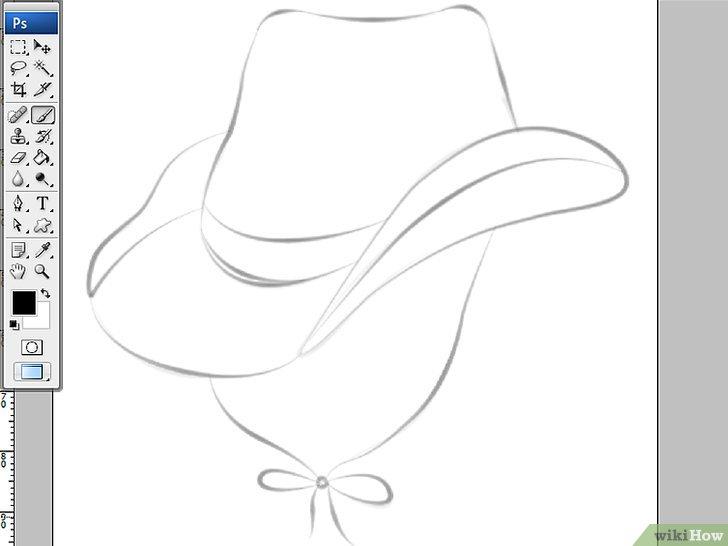 Cómo dibujar un sombrero de vaquero en Adobe Illustrator CS3