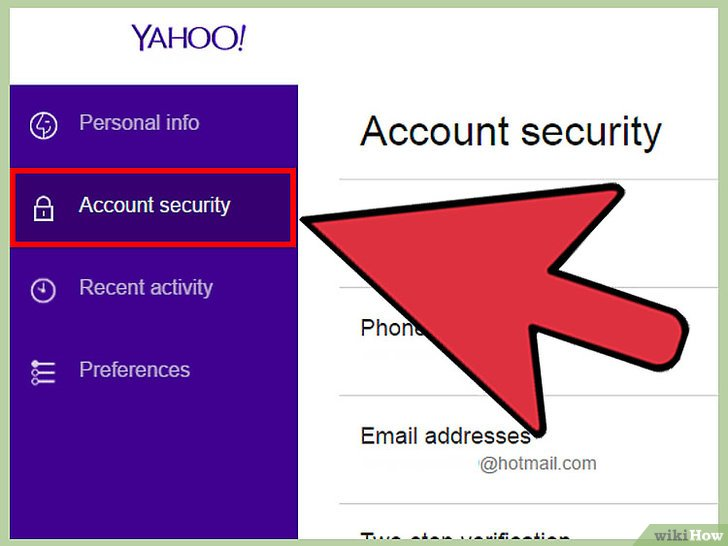 صورة عنوانها Change A Password in Yahoo! Mail Step 4