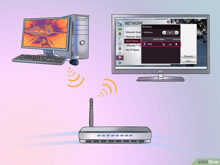كيفية توصيل جهاز كمبيوتر بجهاز تلفاز ذكي من نوع ال جي