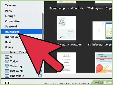 des invitations avec microsoft word