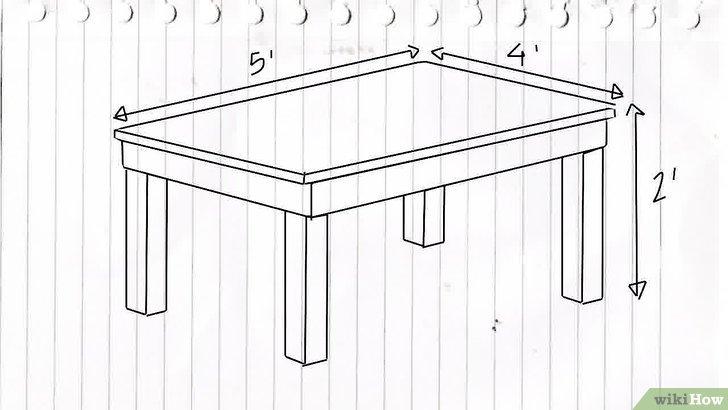 Cmo hacer una mesa 12 pasos con fotos  wikiHow