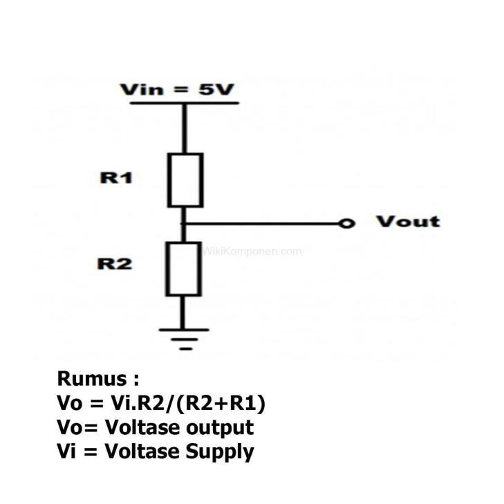 Gambar cara memasang voltage divider