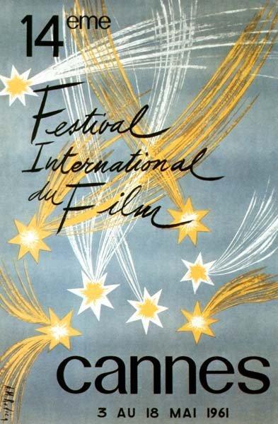 affiche festival de cannes 1961 Toutes les affiches du festival de Cannes de 1946 à 2013