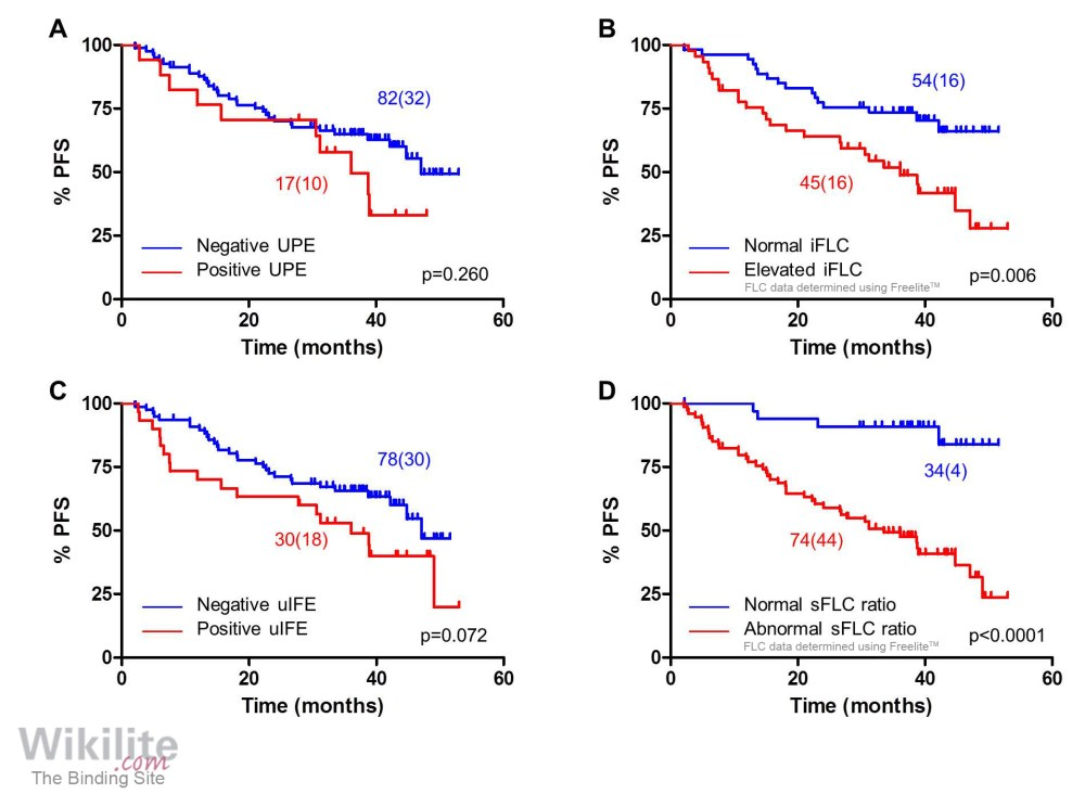 medium resolution of survival outcomes according to serum and urine flc characteristics at the end of induction therapy