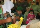 Cegah Bahaya Difteri, Prajurit Korem 011 Lilawangsa Beserta Keluarganya Suntik Vaksin