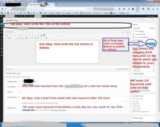 how to publish an article on wordpress, publishing post using wordpress, way of publishing a post using wordpress cms