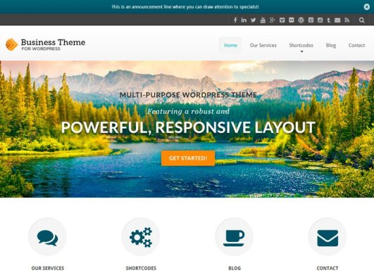 Best Free And Premium WordPress Business Themes 2015, powerful wp plugins