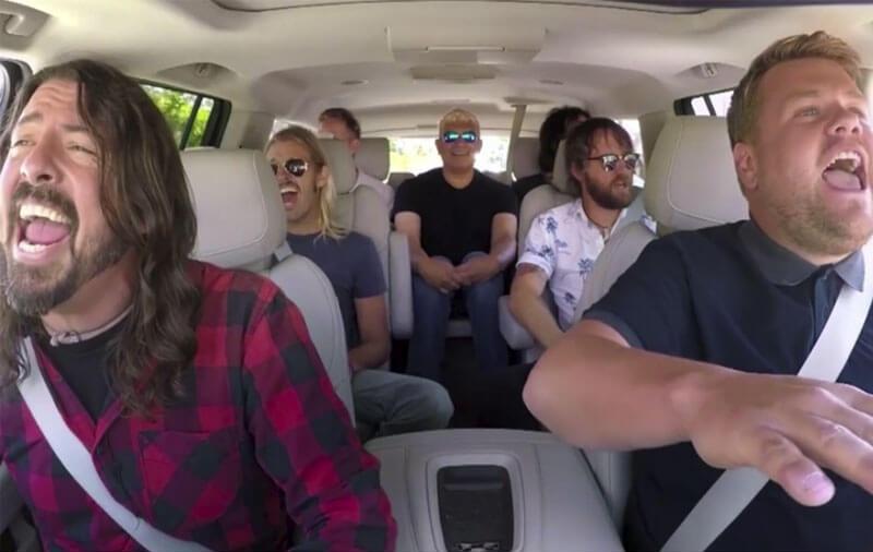 Foo Fighters ganha integrante temporário durante Carpool Karaoke