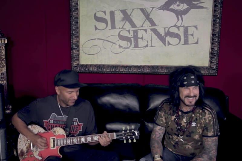 Tom Morello mostra seus riffs no novo programa do Nikki Sixx