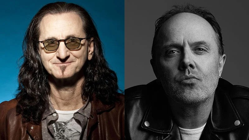Geddy Lee do Rush e Lars Ulrich do Metallica