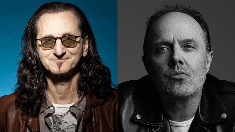 Geddy Lee do Rush e Lars Ulrich do Metallica