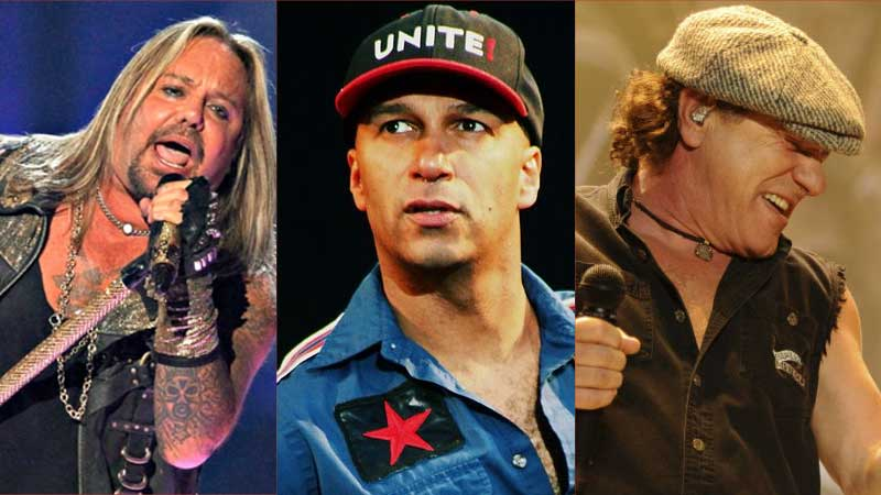 Tom Morello é fã de Mötley Crüe e AC/DC