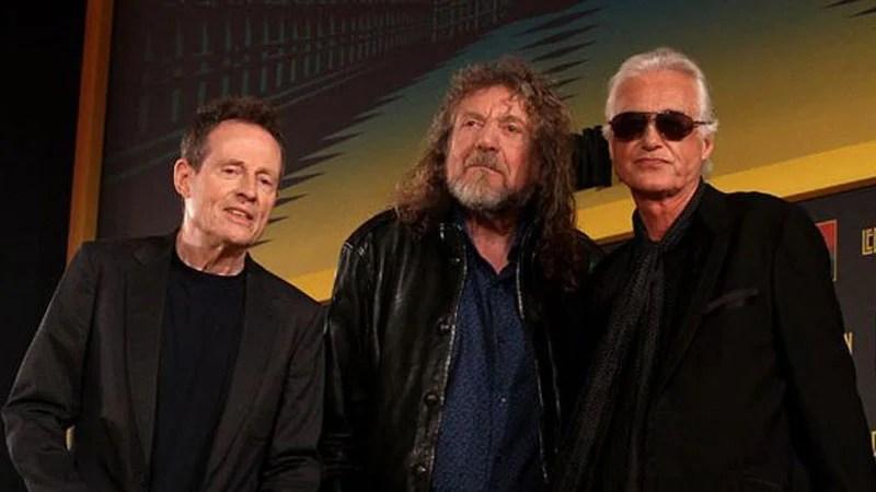 immy Page, Robert Plant e John Paul Jones