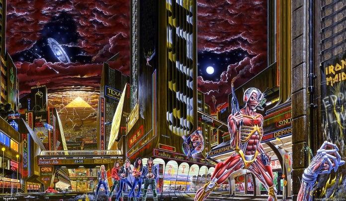 As referências escondidas na capa do álbum 'Somewhere In Time' do Iron Maiden