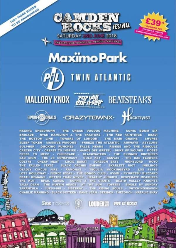 Lineup Camden Rocks Festival