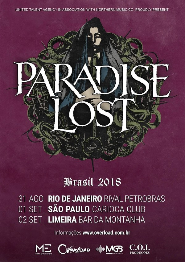 Paradise Lost - Turnê 2018