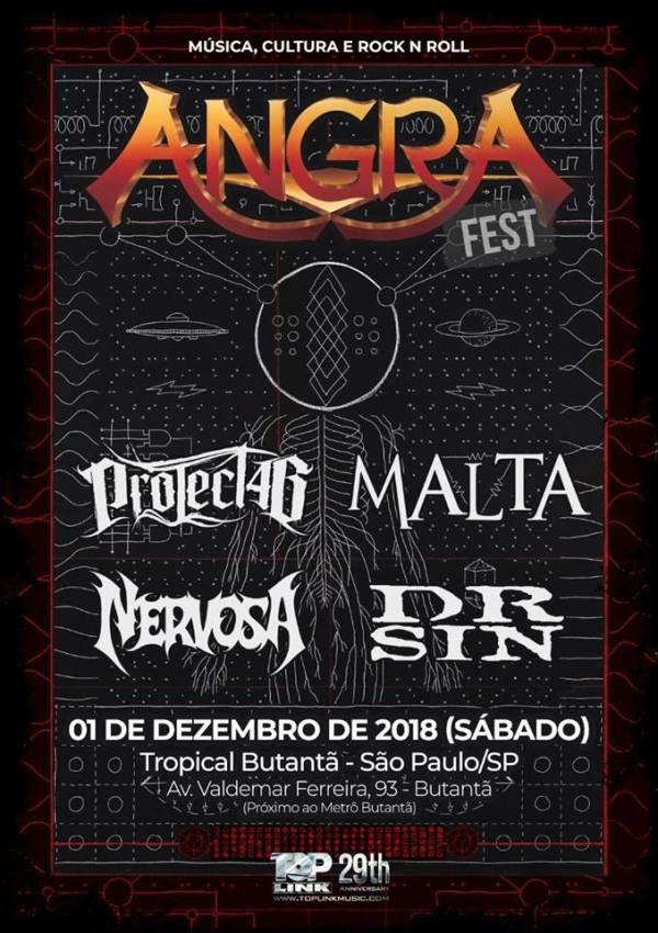 Angra Fest 2018 - Angra, Dr. Sin, Malta, Project 46, Nervosa