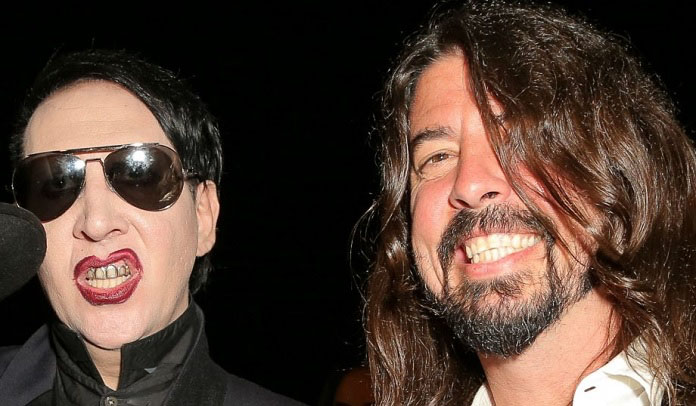 Marilyn Manson e Dave Grohl
